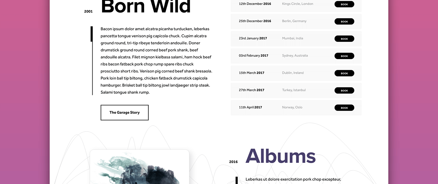 Adobe XD ux music bands apps Moible Web Prototyping
