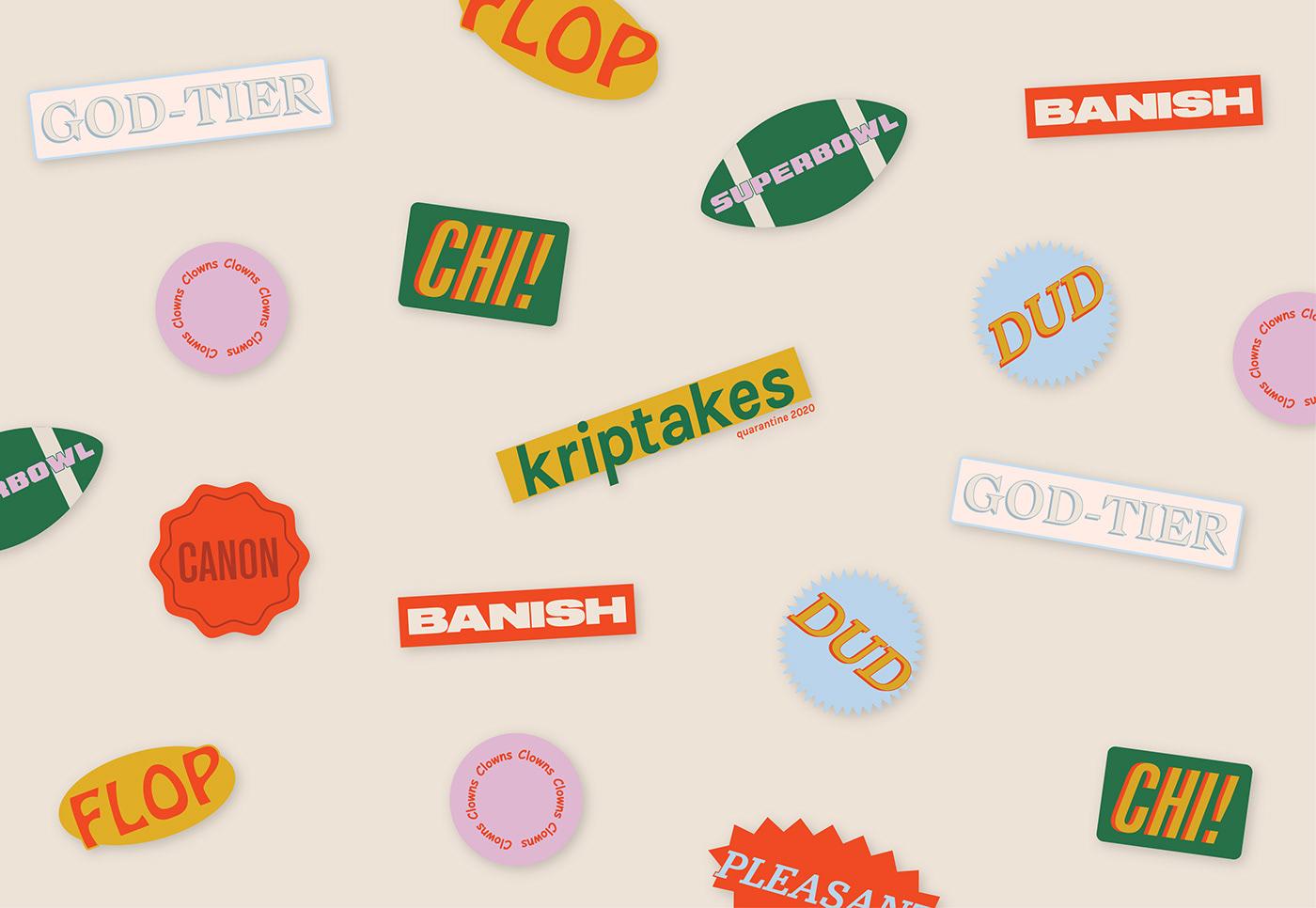 branding  design Film   Movies reviews social media stickers television
