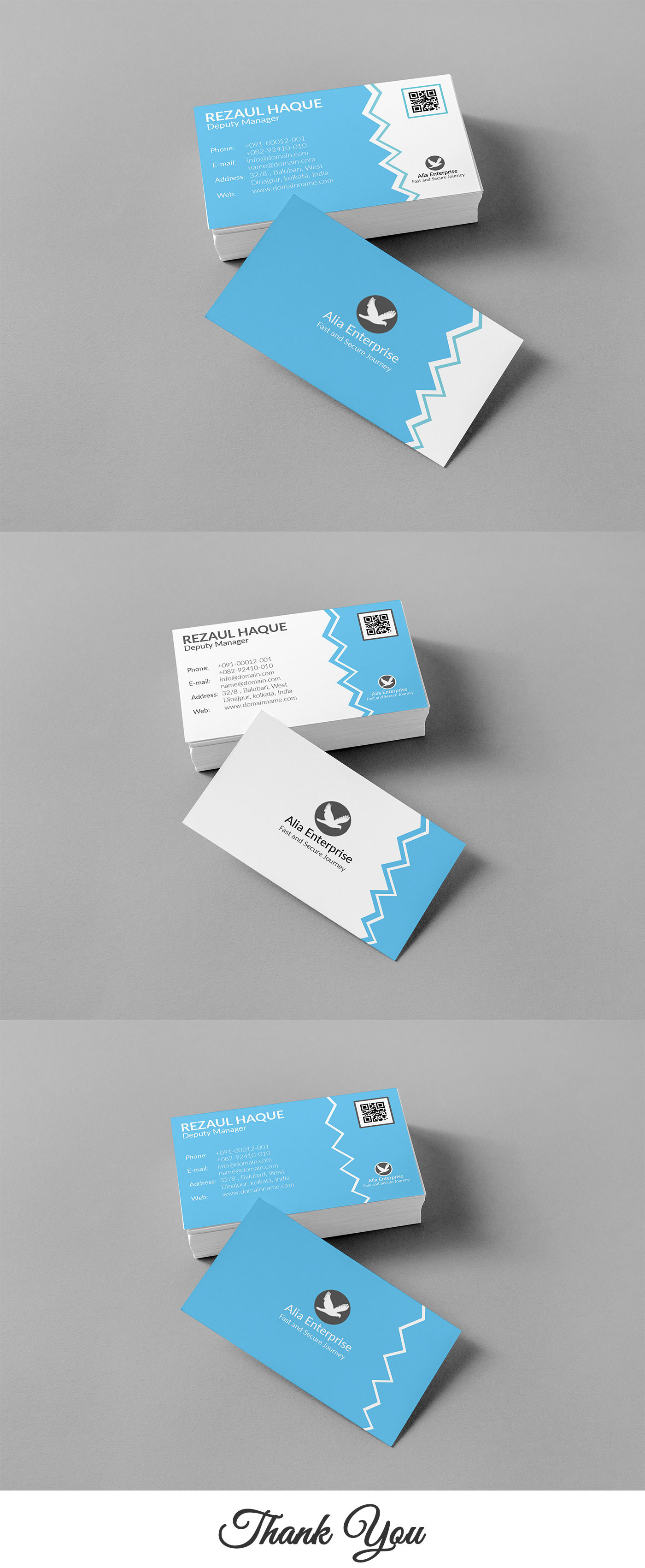 business card Transport clean cyan White awesome print