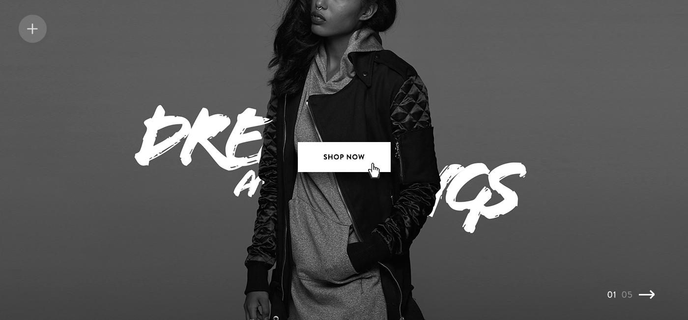UI design Web Icon logos DARK FASHION shop studio