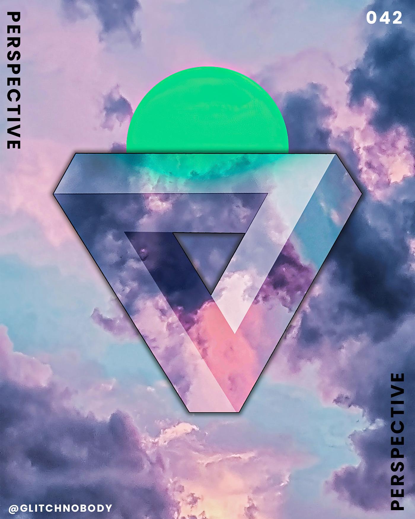 glitchnobody graphic design  poster