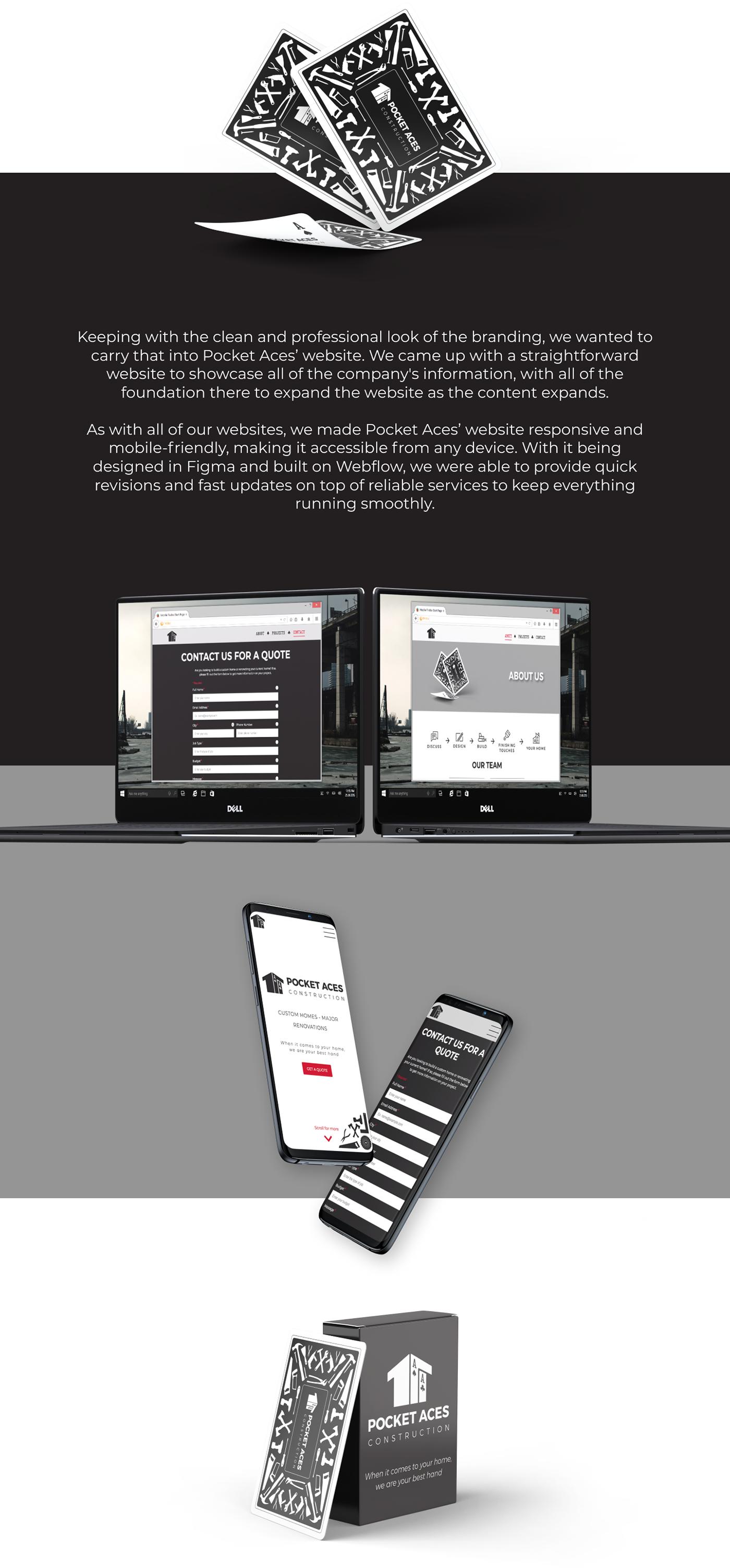 logo branding  UX design Web Design  construction graphic design  Responsive Playing Cards mockups