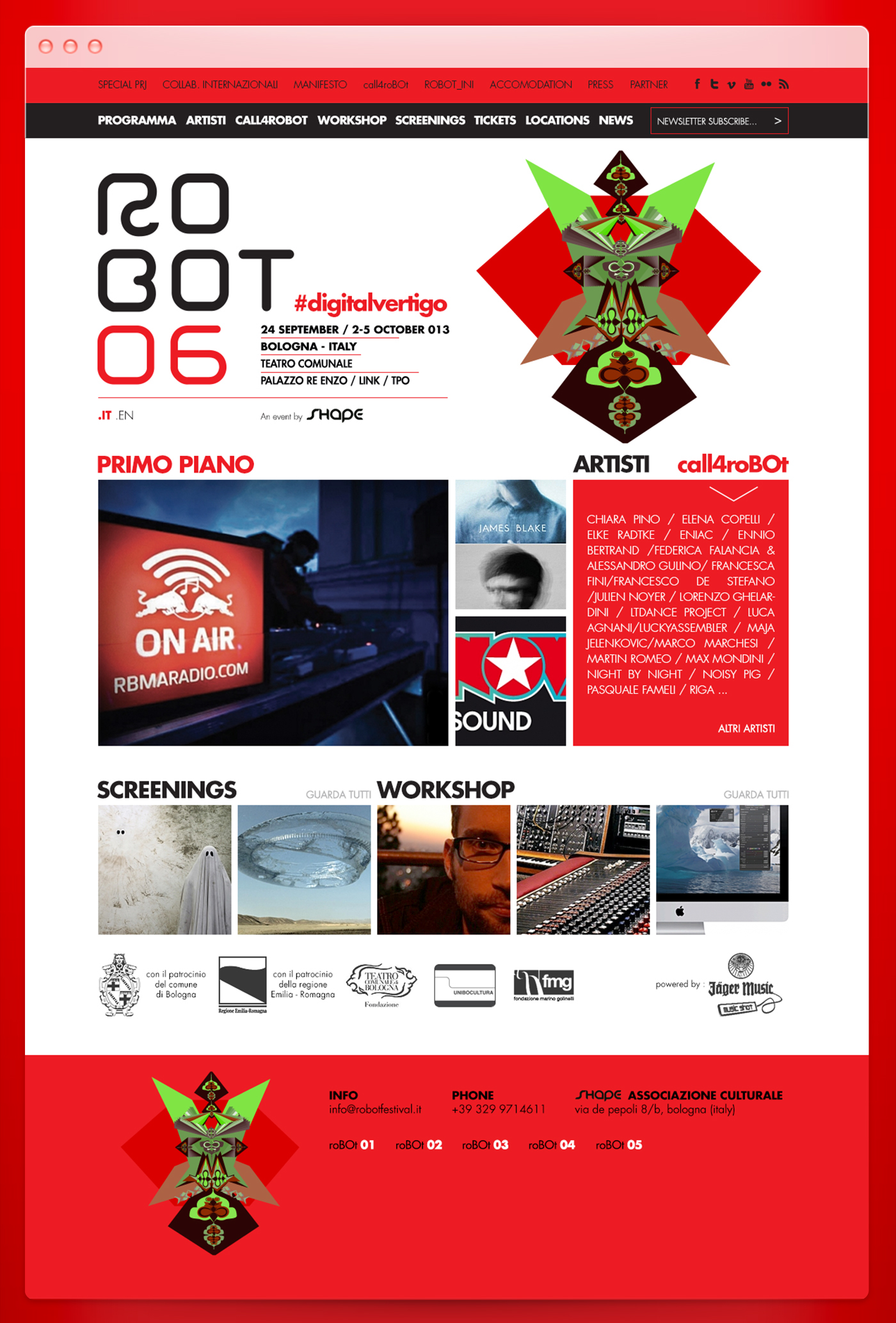 robot,festival,robot festival,bologna,electronic music