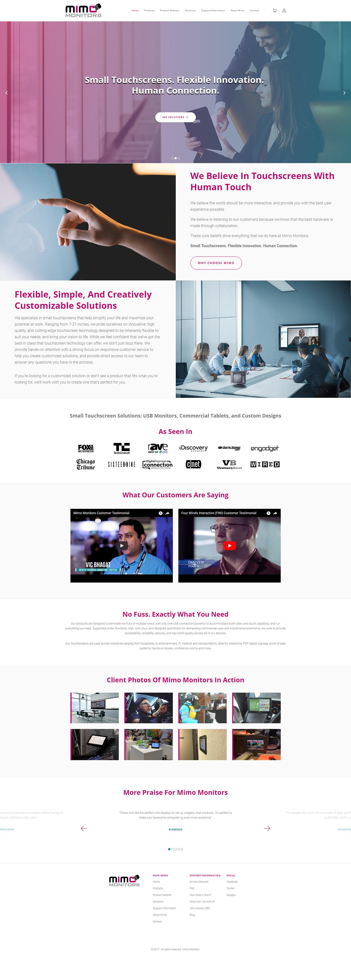 Web Design  monitors software company e-commerce Shopify Software design