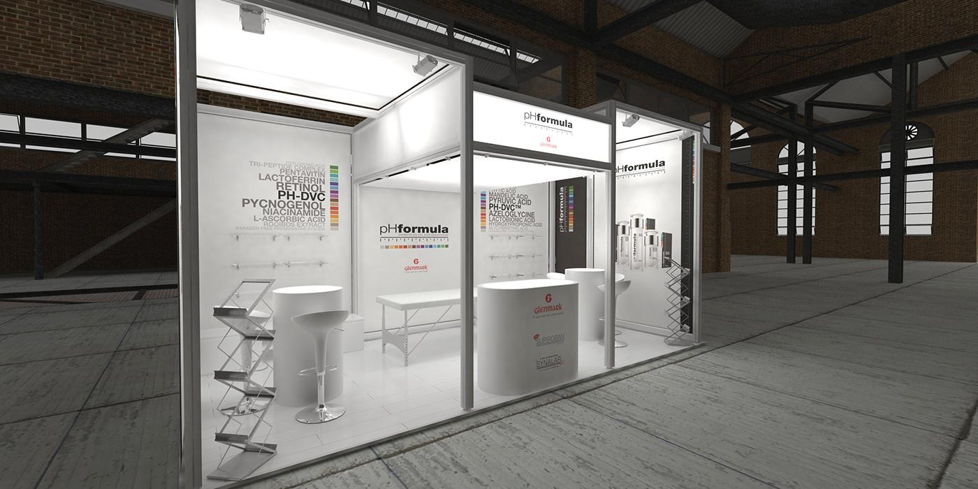 ph formula glenmark at sasds aesthetics trade show on behance. Black Bedroom Furniture Sets. Home Design Ideas