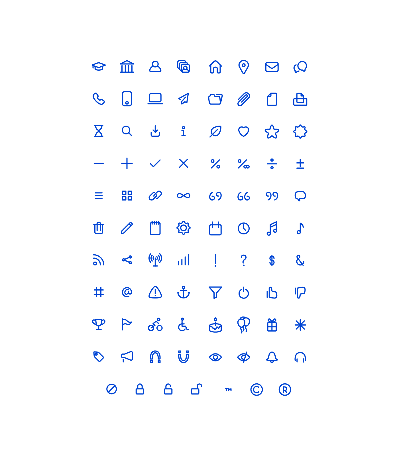 Adobe Portfolio icons line style lines pictograms
