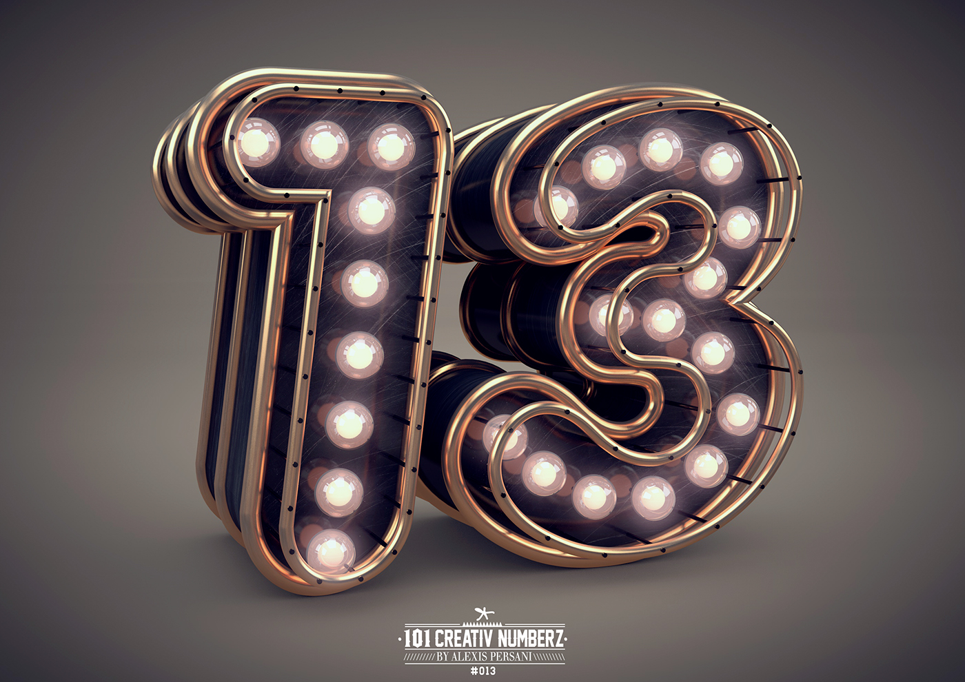Outstanding 101 Creative Numbers Typography by Alexis Persani 12