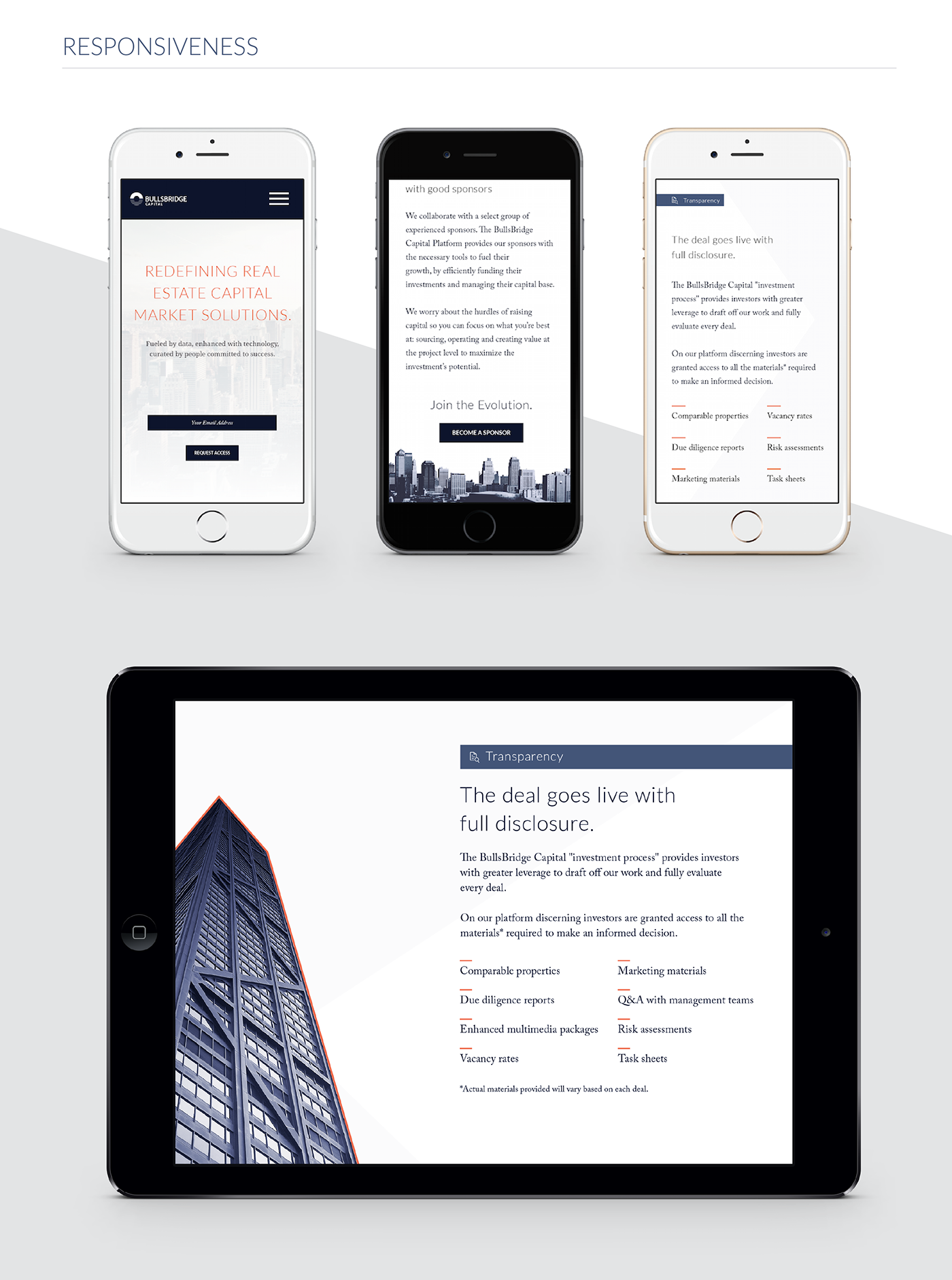 real estate crowdfunding Fintech Startup landing page front-end development Style Guide user experience home page Responsive
