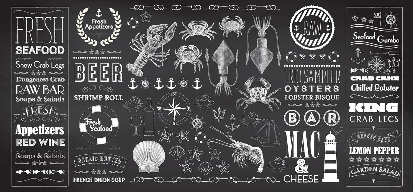 Cajunsea seafood restaurant graphics on behance