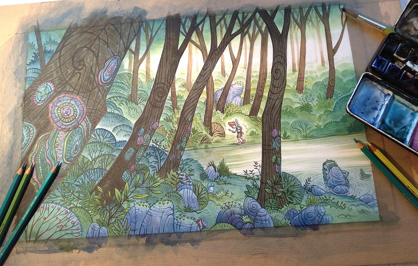 Image may contain: painting, drawing and cartoon