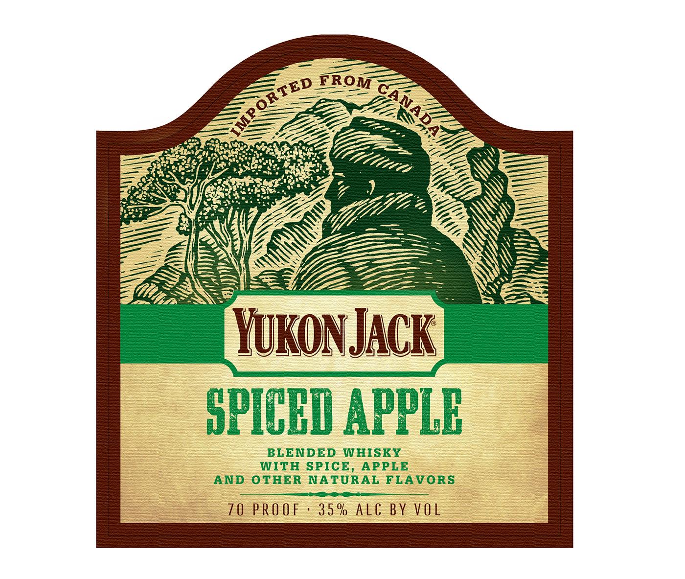Yukon Jack Whiskey Labels Illustrated By Steven Noble On Behance
