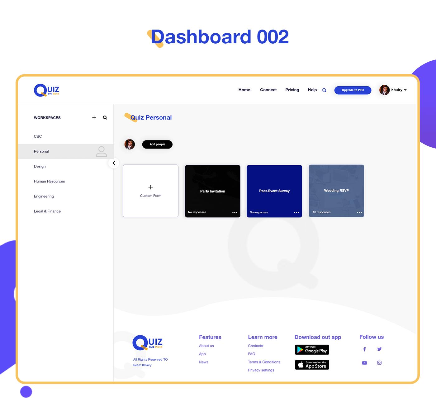 UI ux Webdesign uxdesign UserExperience Interface UI/UX dashboard uesr interfase Quiz