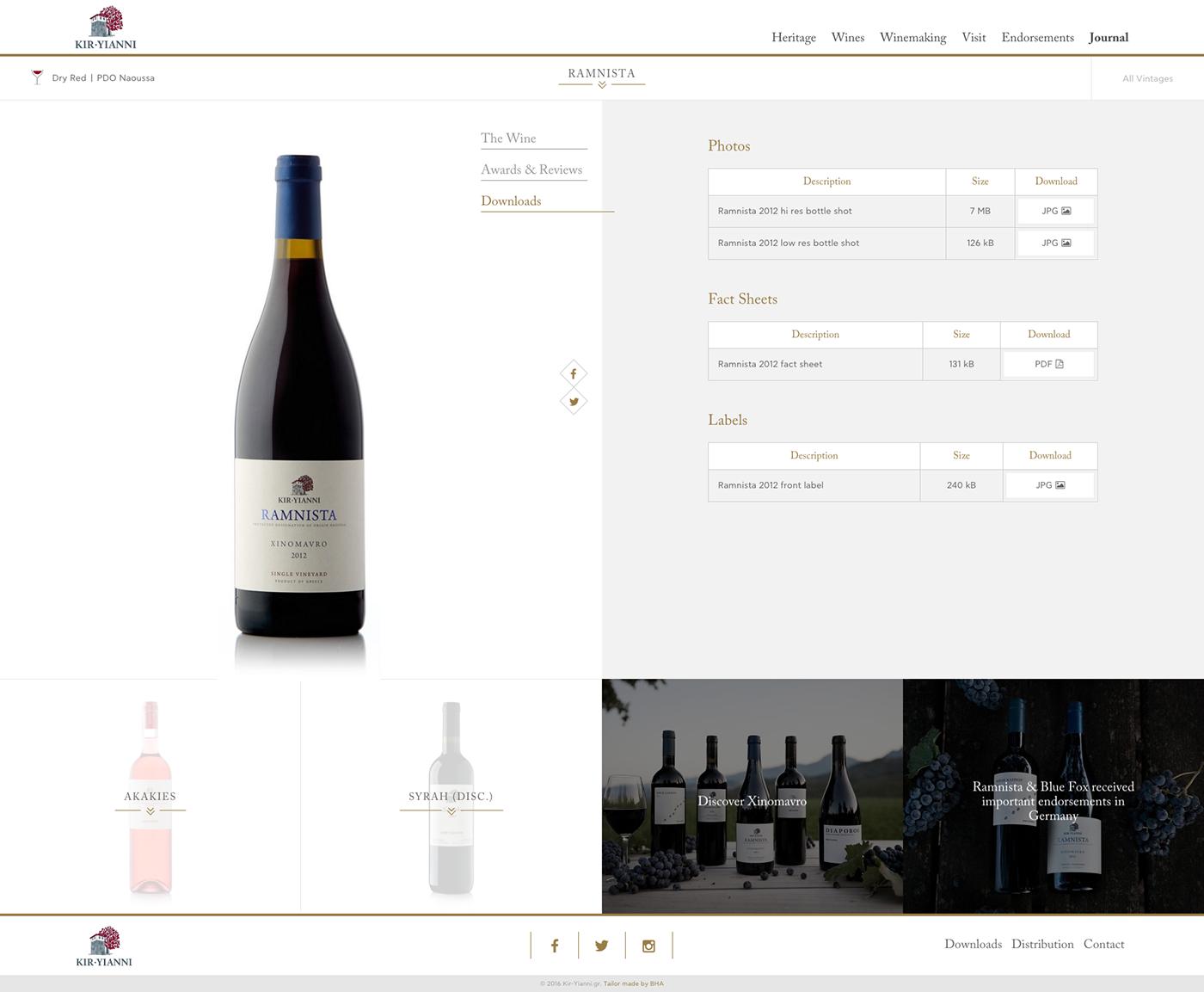 wine boutaris Responsive Design icons
