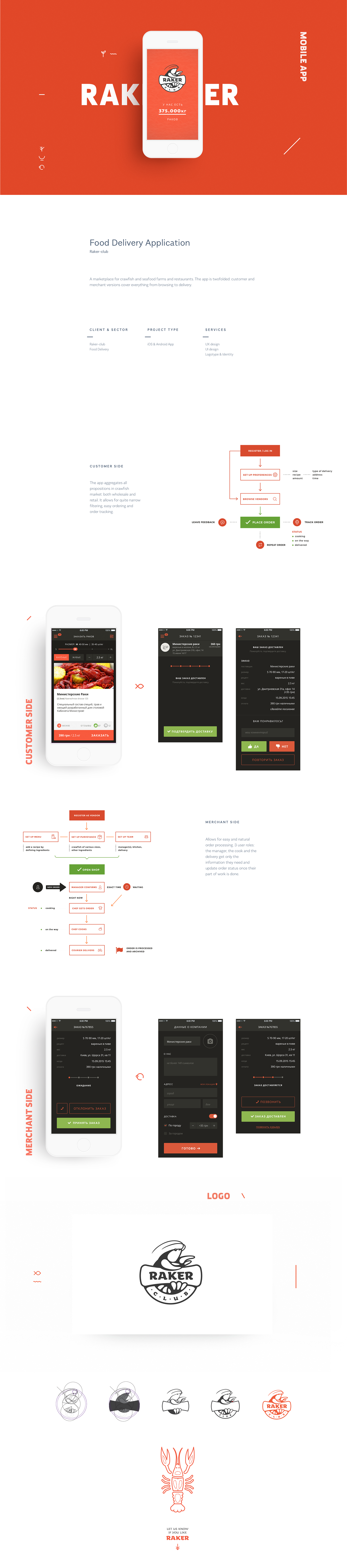 Crawfish Ecommerce app merchant trade Marketplace sell buy Order shop catering Food  delivery processing management