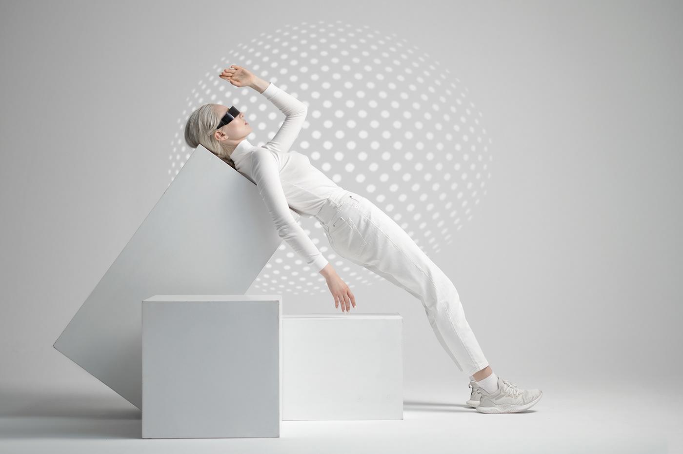 color Fashion  futuristic geometric