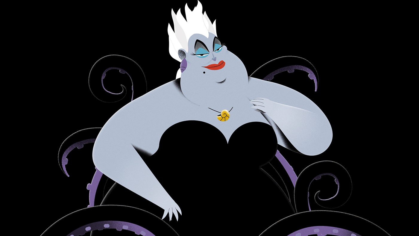 disney Ursula hag hades horned king villains little mermaid hercules black cauldron snow white