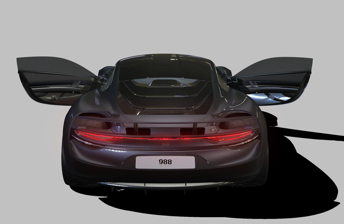 Porsche 988 Vision Design On Behance