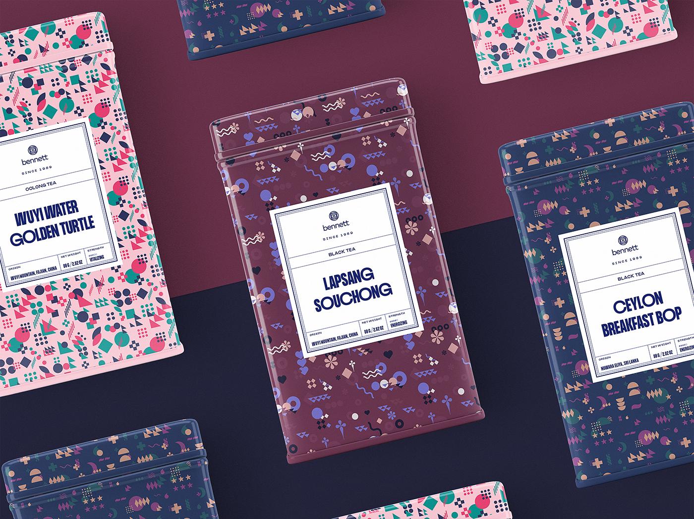 Ecommerce Packaging tea Coffee typography   identity logo box drink Kraft