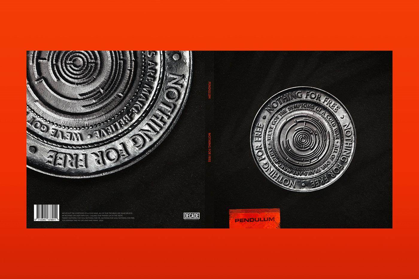 coin music pendulum photomanipulation edm Packaging spotify Mockup BBC Radio One malta