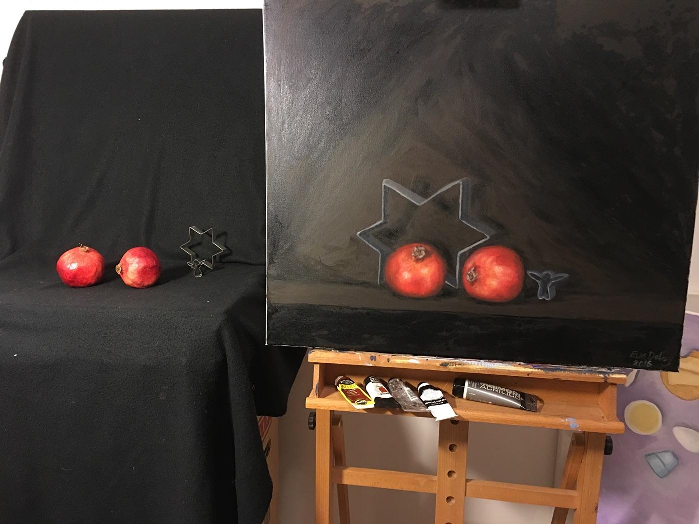 oljemålning oil paintin stillebe fine art
