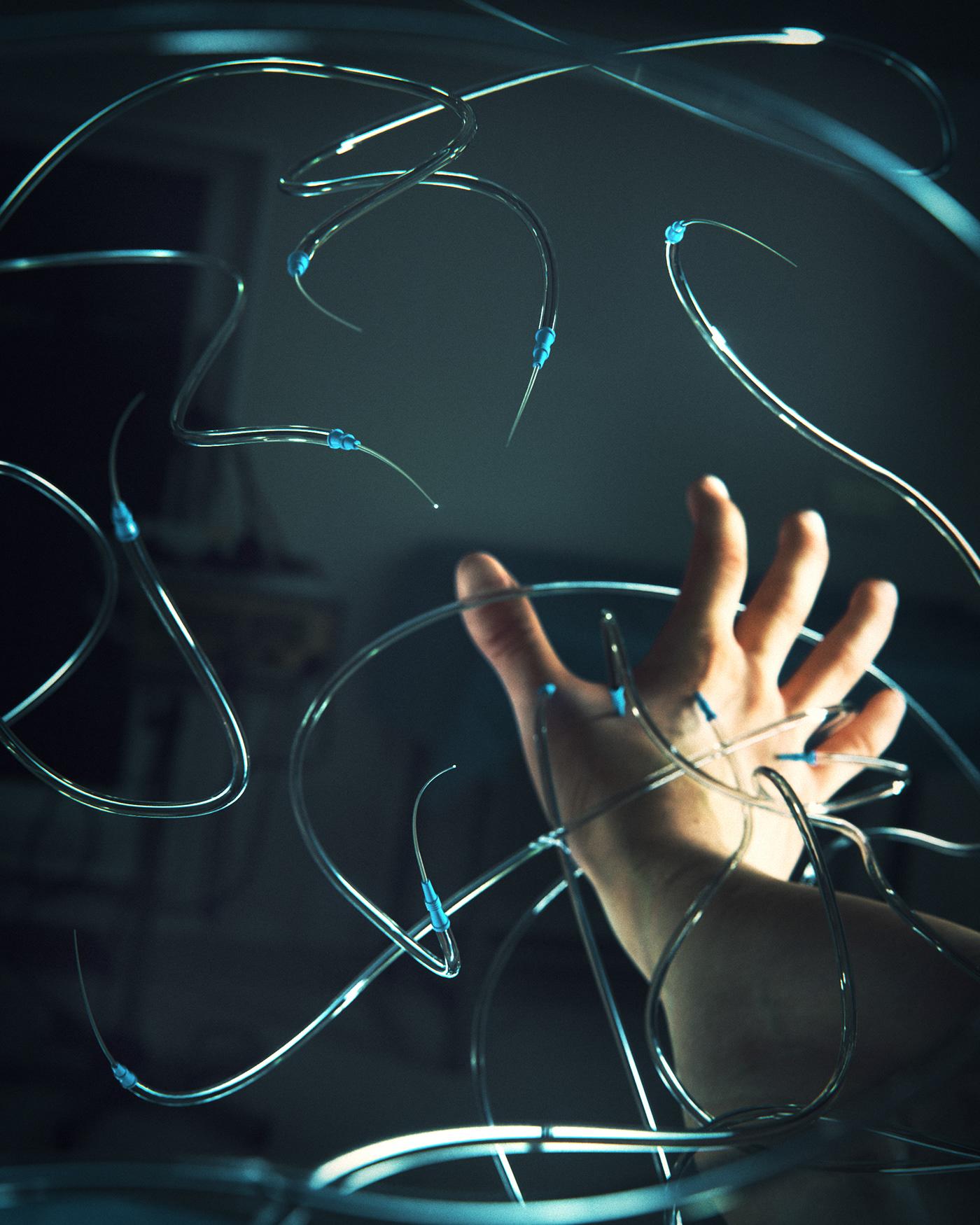 3D art cancer chemo cryptoart digitalart needles nft Render vfx
