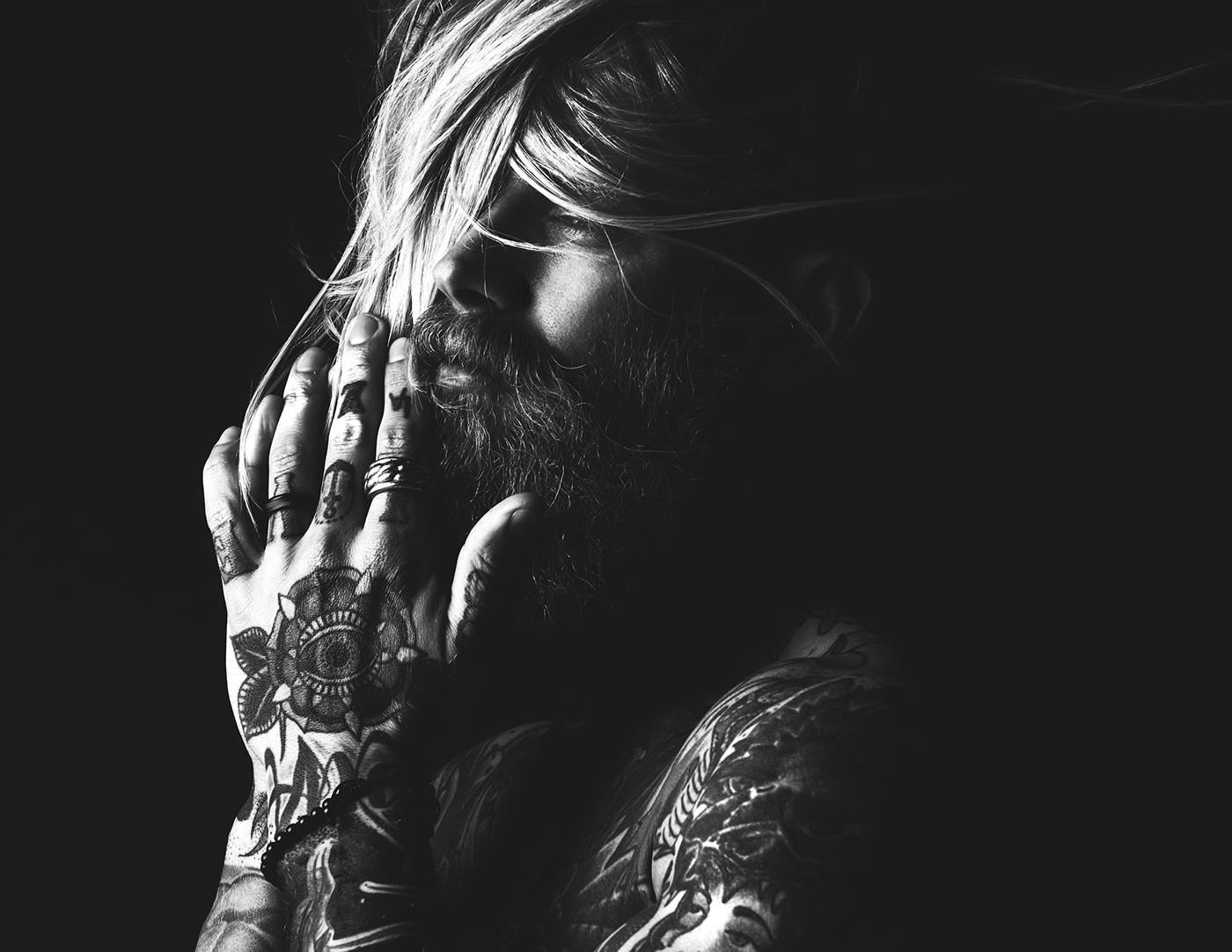 tattoo ink beard dark epic hands gothic portrait edgy viking