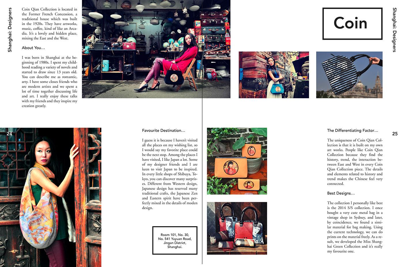 travel magazine spread on behance