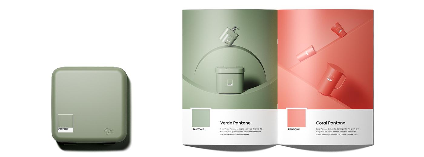 pantone colors 3D plastic product c4d