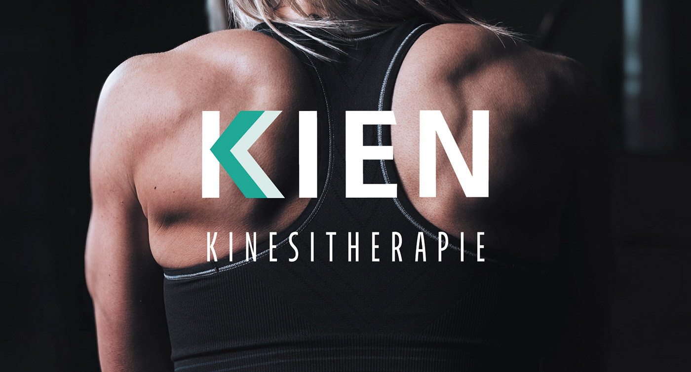 exercise kinesiotherapy physical therapy visual identity kinesithérapie