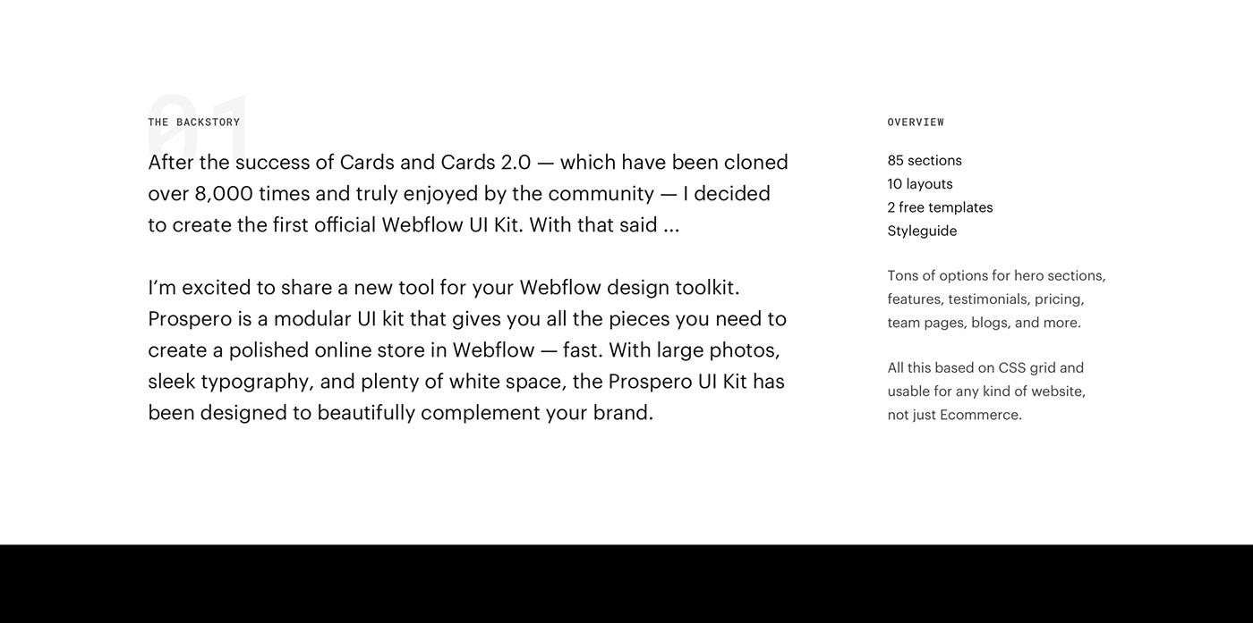 ui kit Webflow free UI Ecommerce ux landing page Website template
