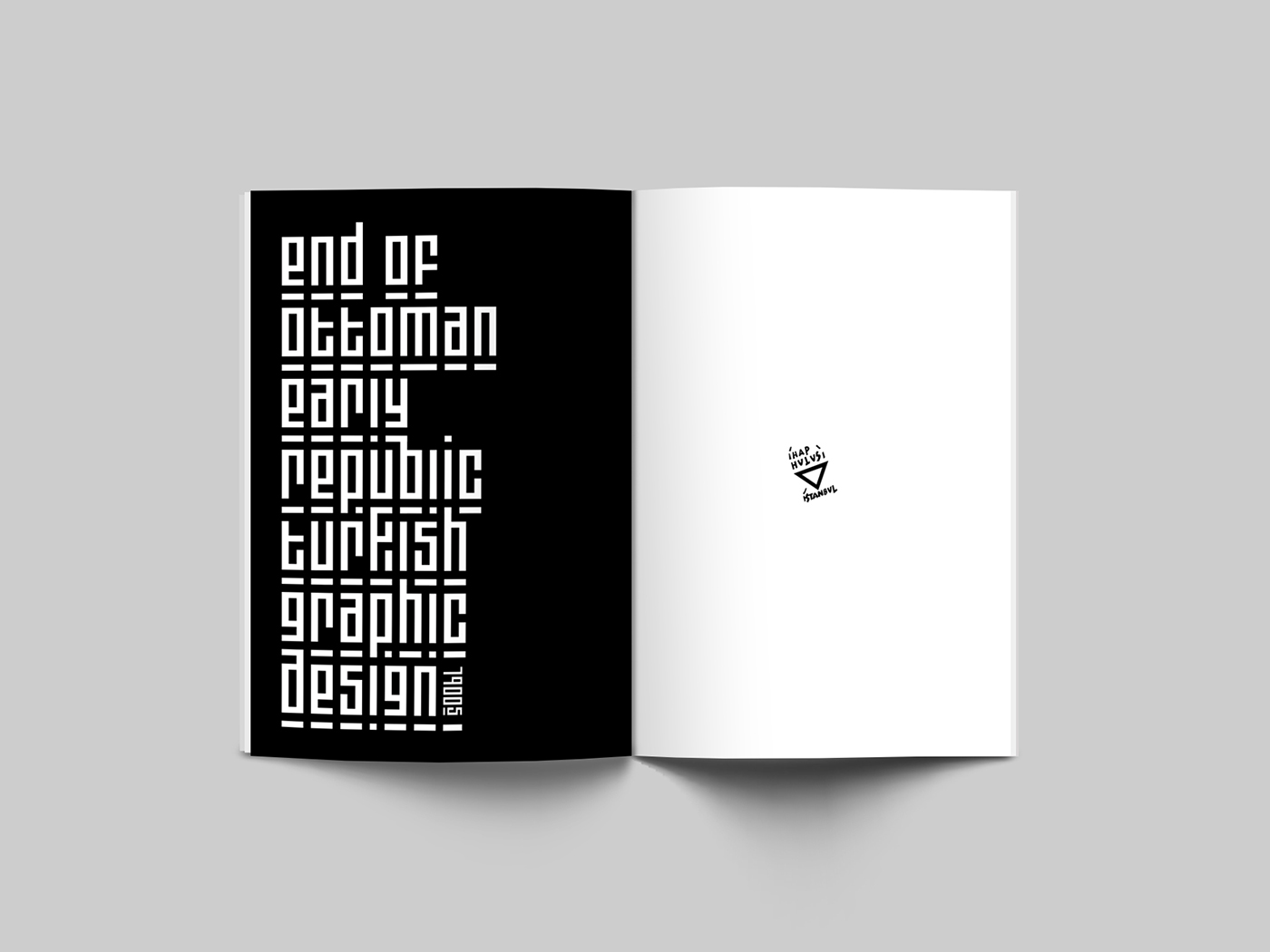 Admirable Turkish Graphic Design History Presentation Booklet On Behance Home Interior And Landscaping Ologienasavecom