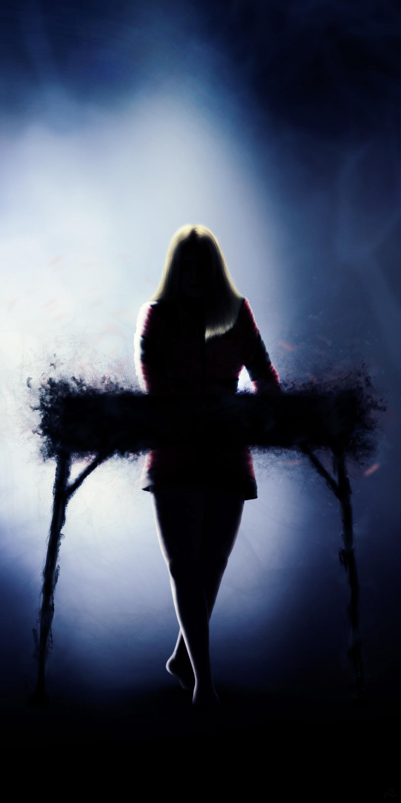 Digital Art  digital painting ILLUSTRATION  doom drone music mystery gothic eerie dark