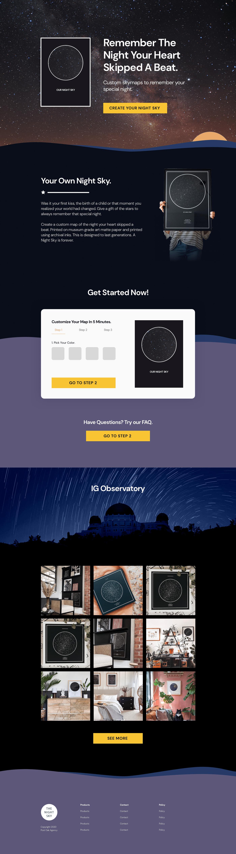 maps the night sky Web Design  Website Website Concept Website Homepage