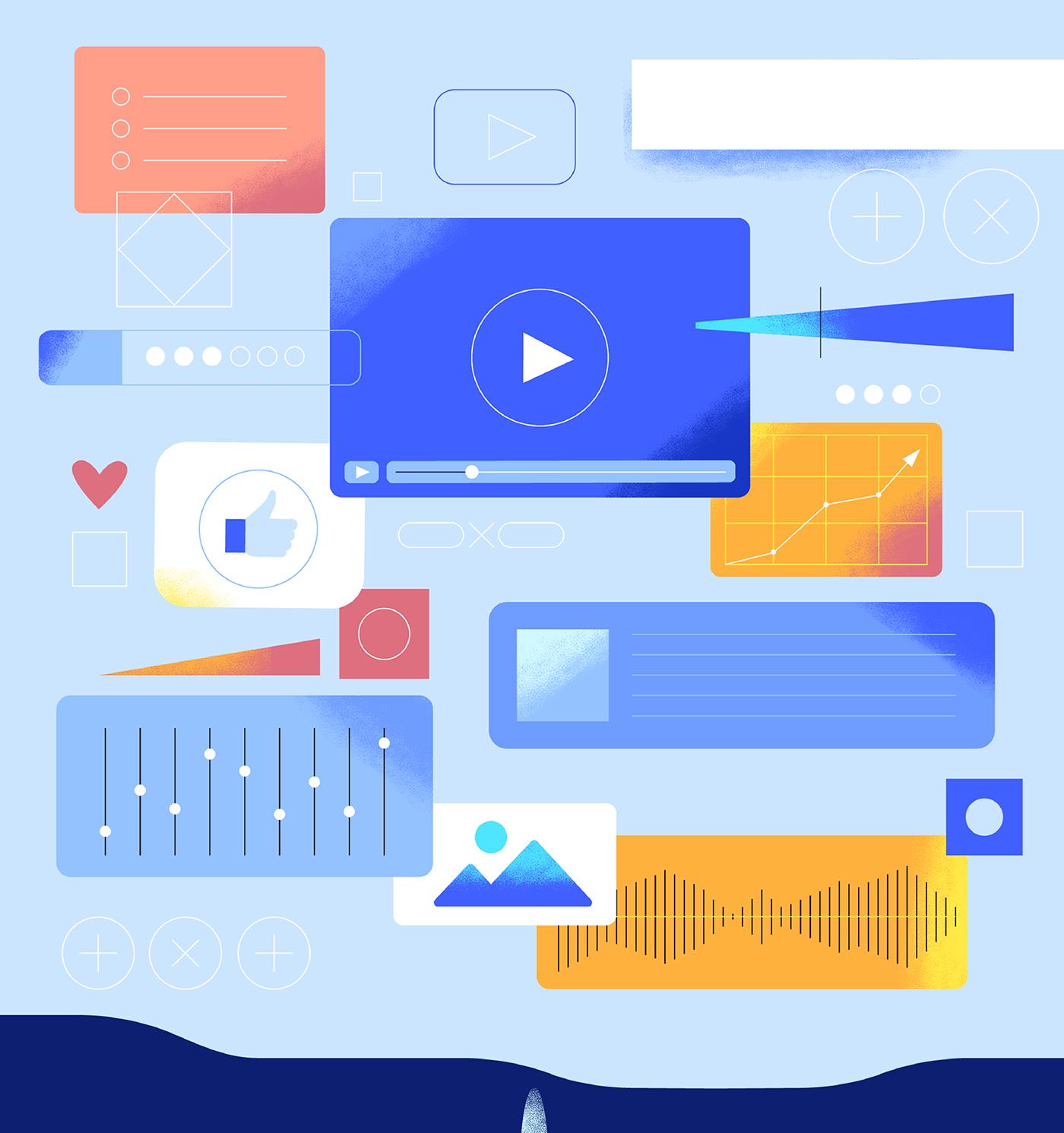 2D animation  business explainer video ILLUSTRATION  motion design motion graphics  Sound Design  video Visual Essay