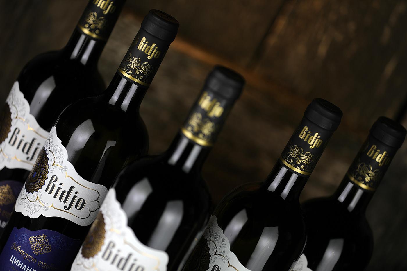 bidjo branding  wine georgian wine Sumilov shumilov shumi love design agency design Packaging