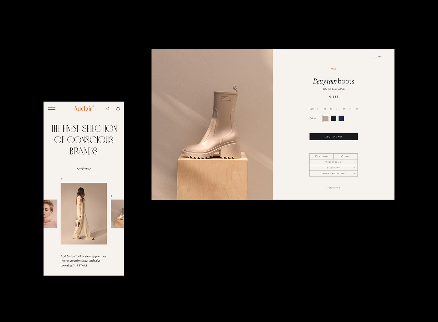 clothes,Ecommerce,Fashion ,interaction,luxury,minimalist,online store,Sustainability,UI/UX,Website