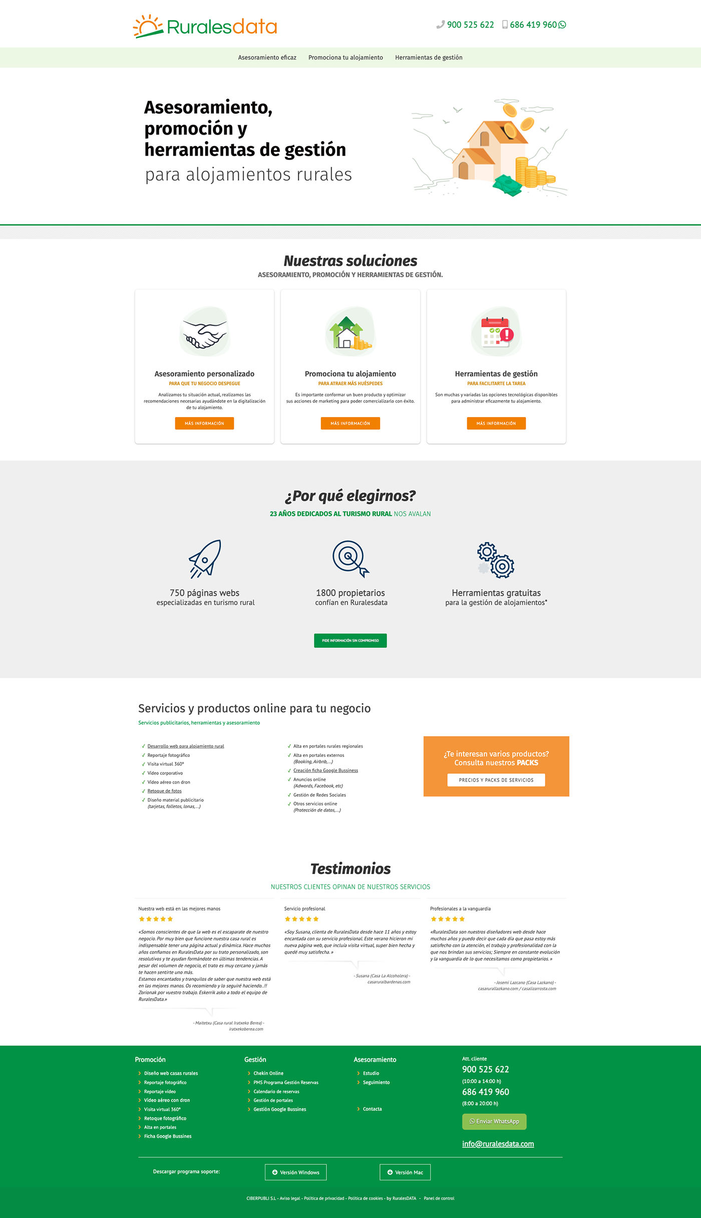 Diseño web marketing rural wordpress