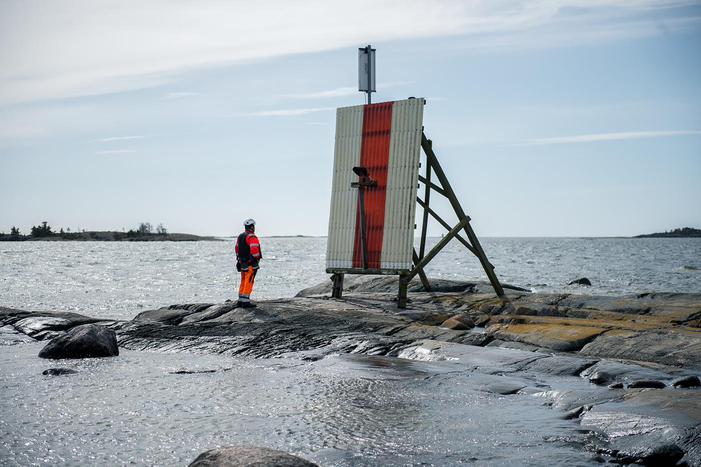 Waterways maintenance finland standing man worker