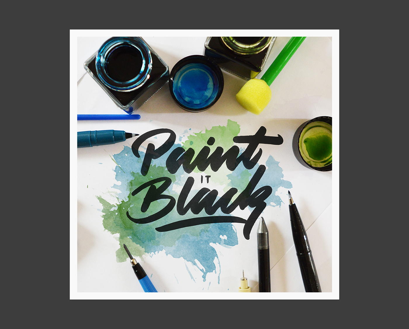 lettering Calligraphy   effects branding  logo Script type typography   Photography  workspace
