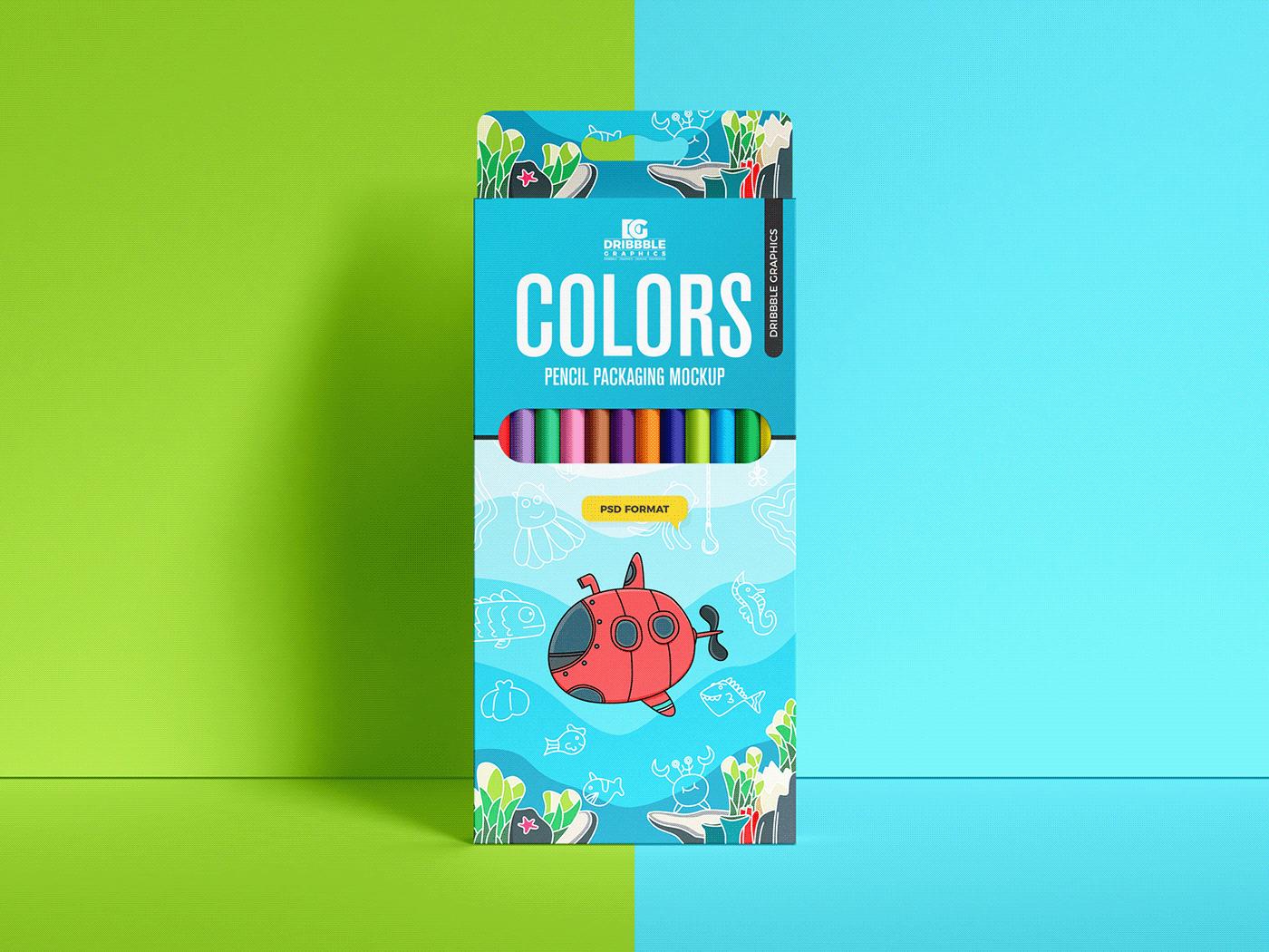 box mockup free mockup  freebies Mockup mockup free mockup psd packaging mockup pencil colors Pencil Colors Mockup psd
