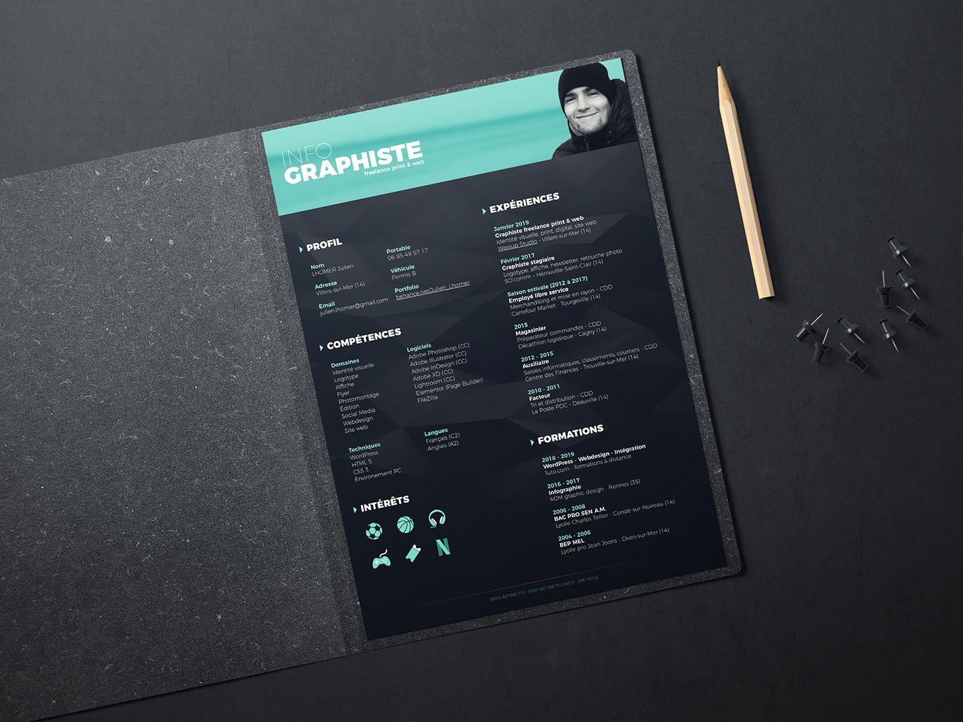 CV branding  Mockup personal Resume