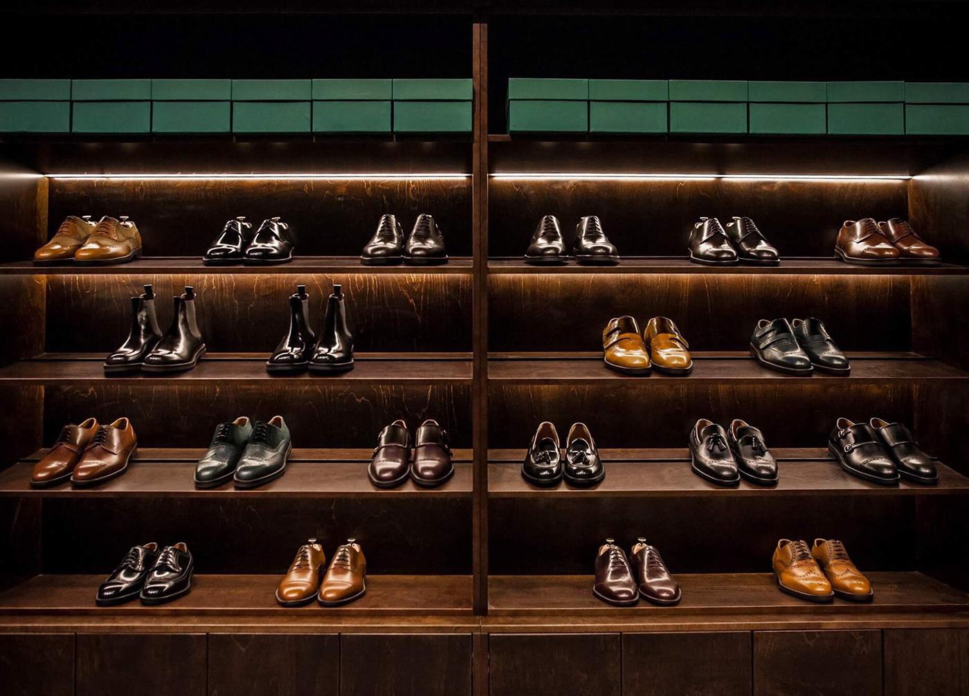 shoes Shoemaker branding  accessories gentleman Style shop store Logo Design