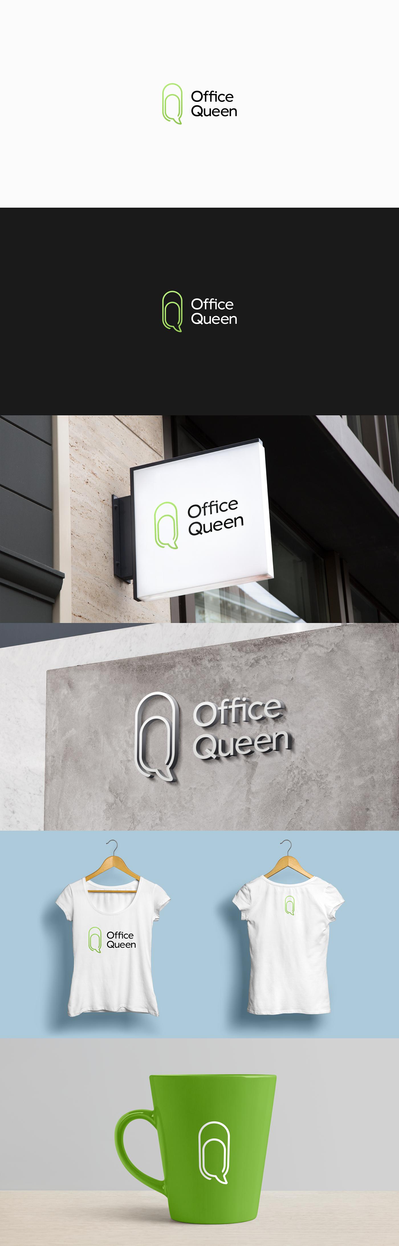 Logotype logo Office queen officequeen finance Russia brand branding