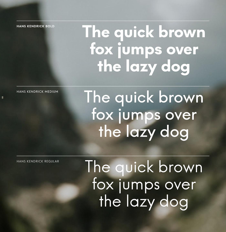 font Typeface hans kendrick type geometric alternative Futura avenir sans serif