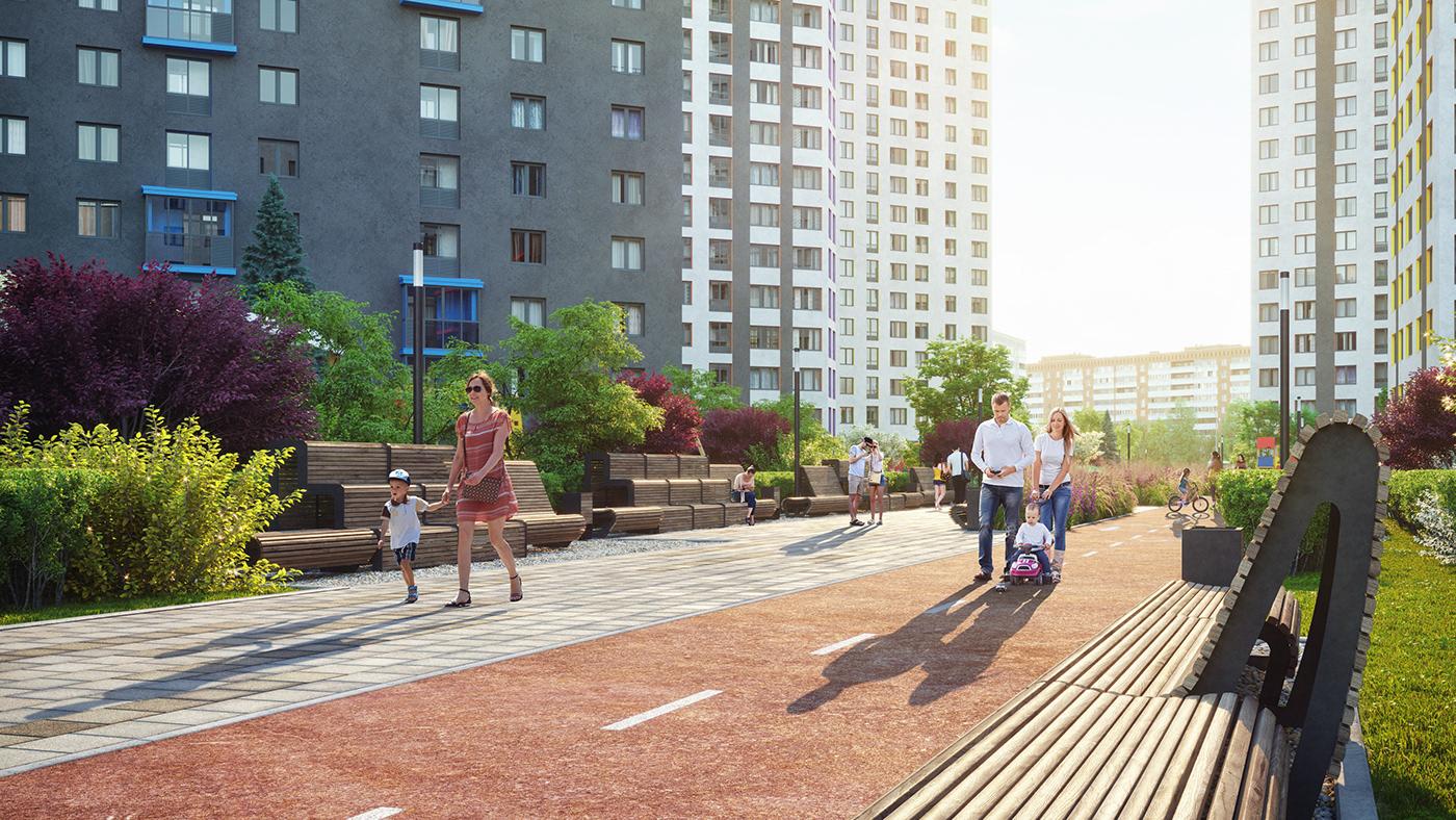 3D apartment architecture development granum home thegranum visualization CG residential