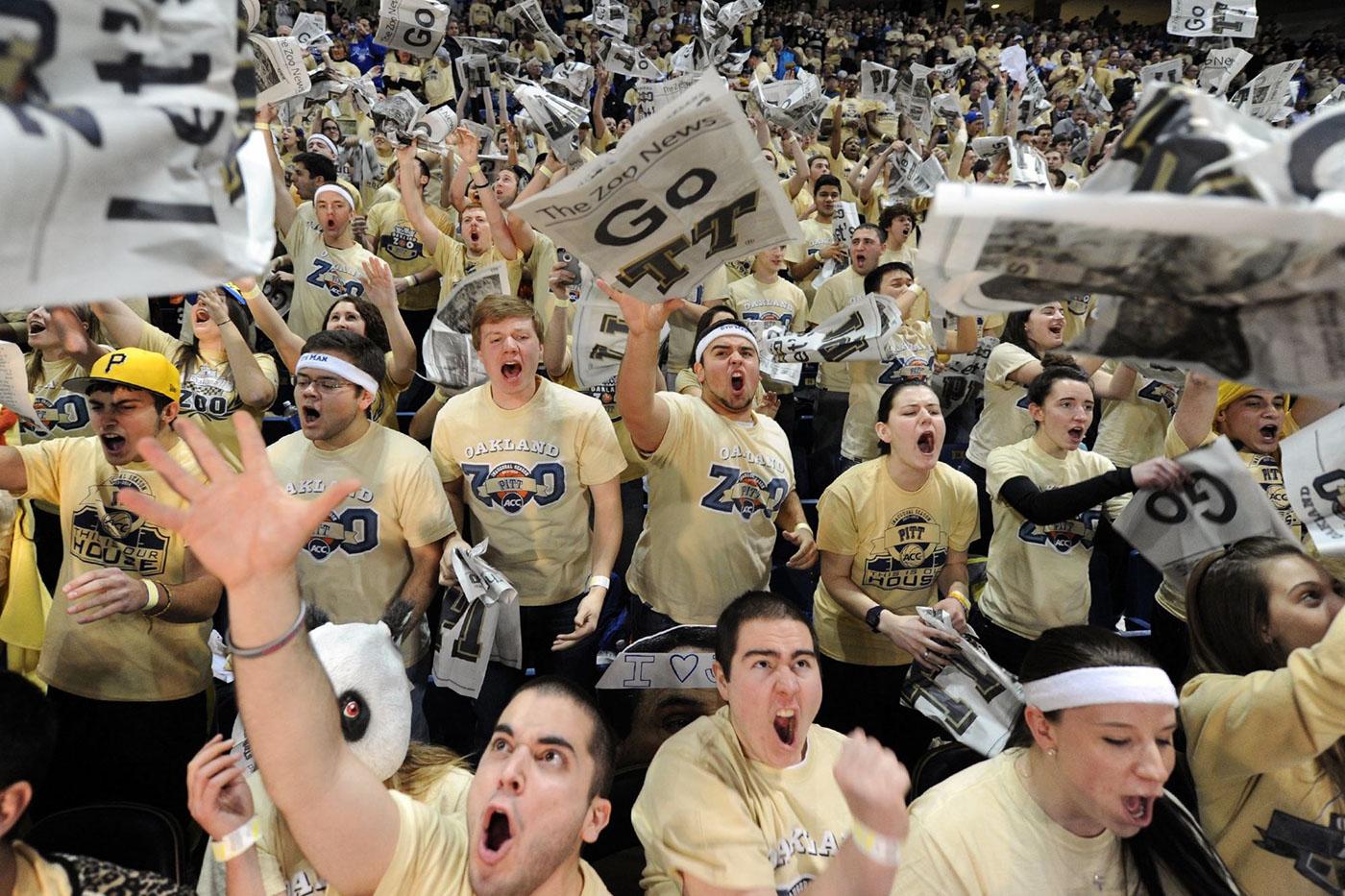oakland zoo Pittsburgh University basketball student group student logo tshirt