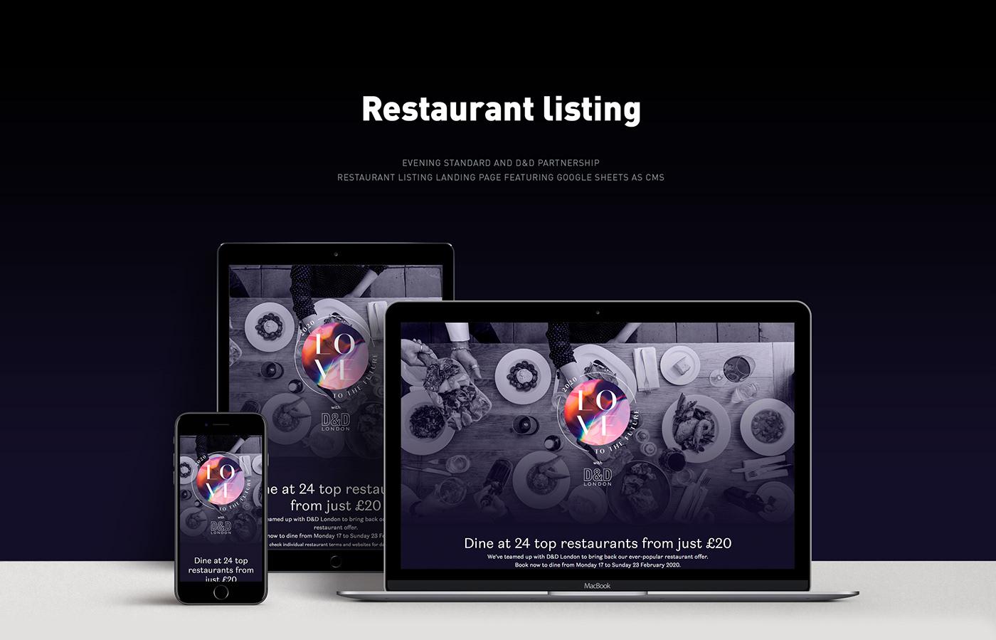 listing Webdesign