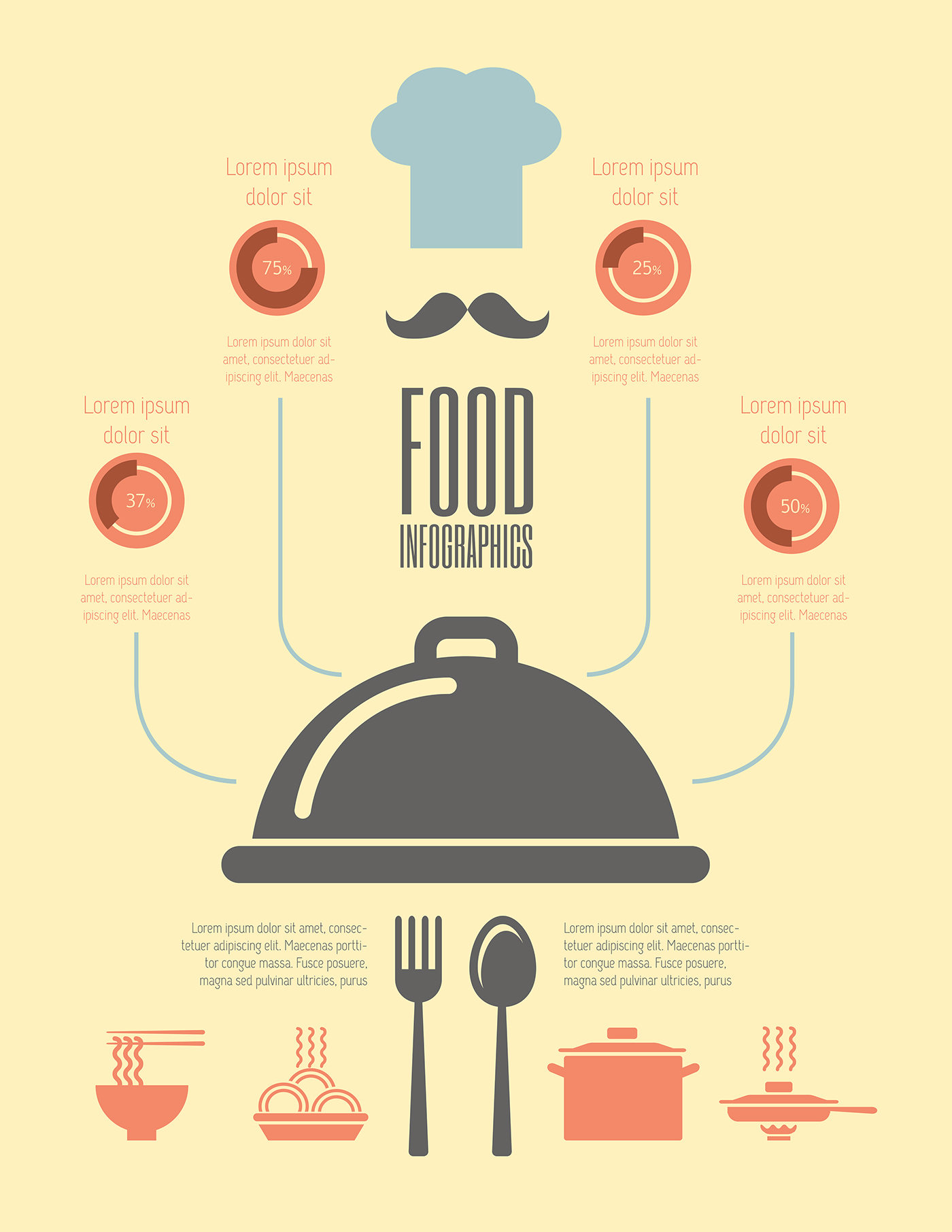 Character Design Jobs Toronto : Food infographics templates flat design on behance