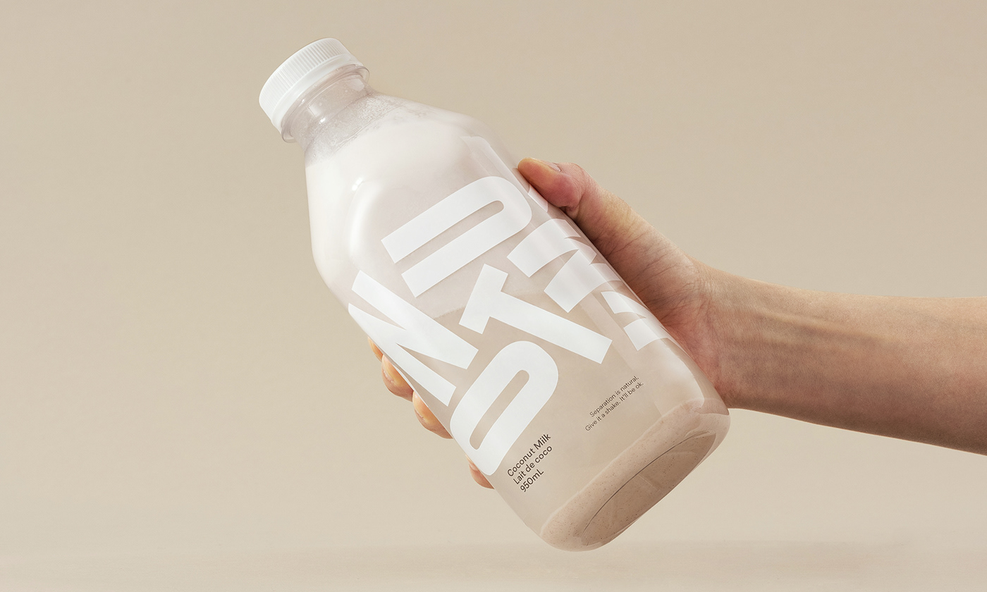 Packaging beverage branding  Coconut food and drink milk minimal Photography  typography   Small Business