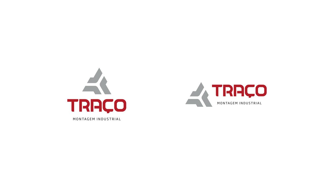Logo Design wip triocom iron steel laser solid Icon triangle Logotype Logomarca FERRO industrial welding pantone